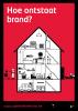 pancarte die de mogelijke brandoorzaken in huis toont. Hoe onstaat brand?