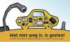 Afbeelding op kaart tegen autodiefstal